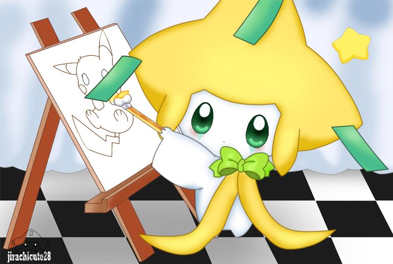 drawing a pikachu by jirachicute28
