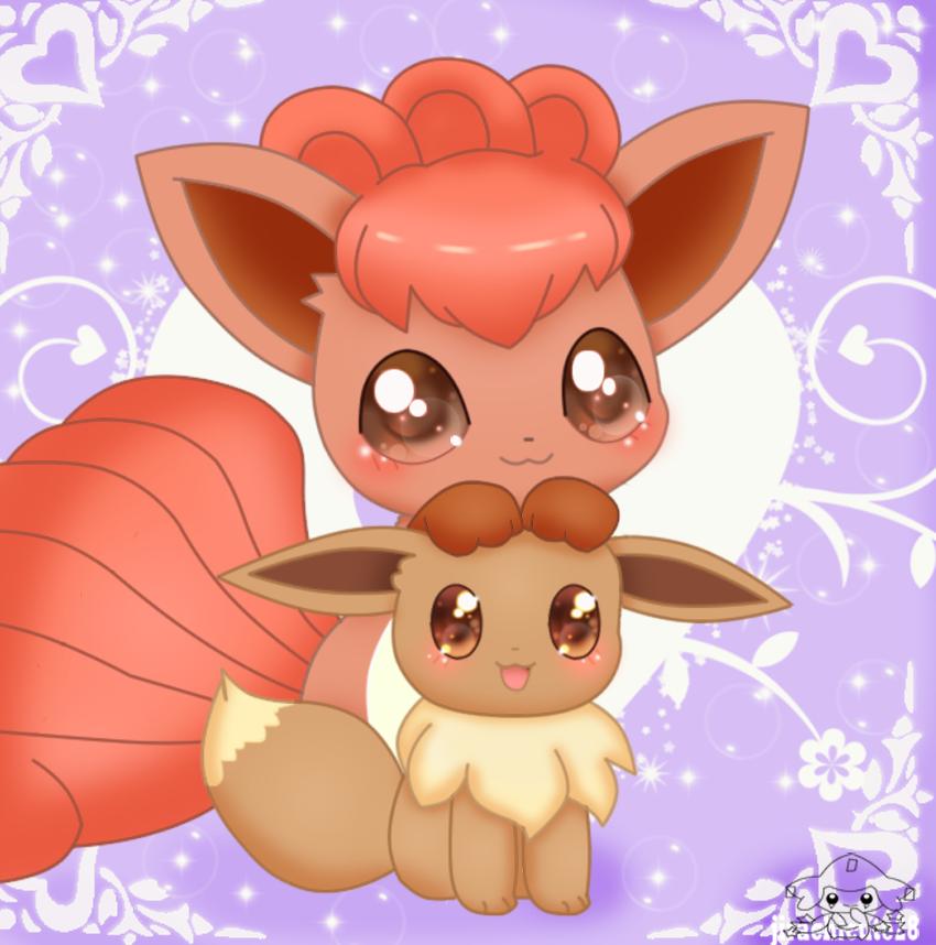 Eevee Wallpaper: Cute Vulpix And Eevee By Jirachicute28 On DeviantArt