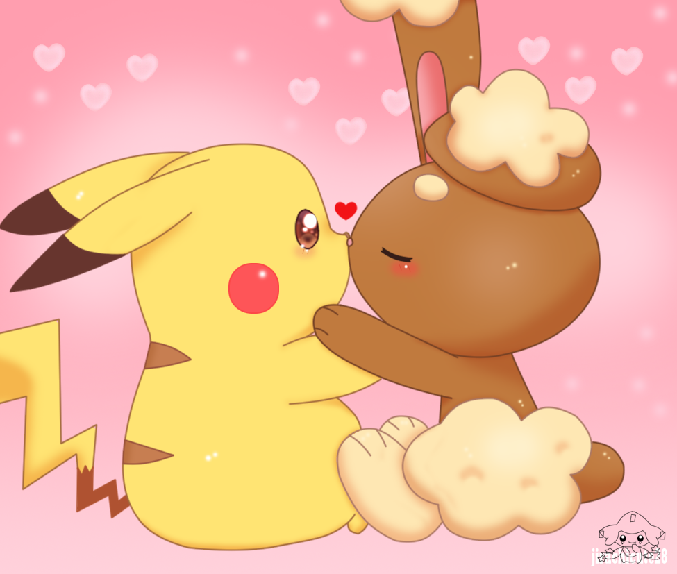 Kissing To Pikachu 2 by jirachicute28 on DeviantArt