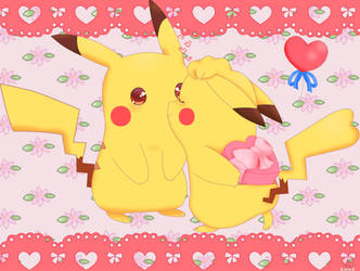 Pikachu Valentine Day 2019 by jirachicute28