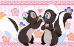 Flower and  Bluebelle (Miss Skunk)