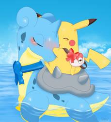 Lapras And Pikachu