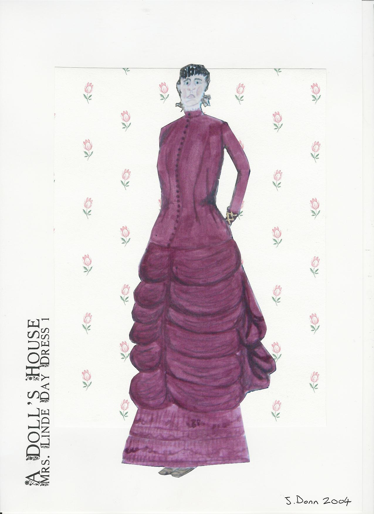 Costume design mrs linde by joanne donn on deviantart