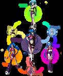 Rei Ayanami, Klan klang , and Jinx Hexafusion