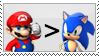 mario is better than sonic stamp by everyday-im-wumboing