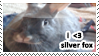 Silver Fox rabbit stamp by everyday-im-wumboing