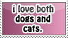 dog and cat person stamp by everyday-im-wumboing