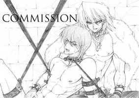 Katsuya Jono-Uchi and Seto Kaiba - Commission