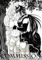 Izuna Uchiha (Fox) x Tobirama Senju (Bunny) - COM