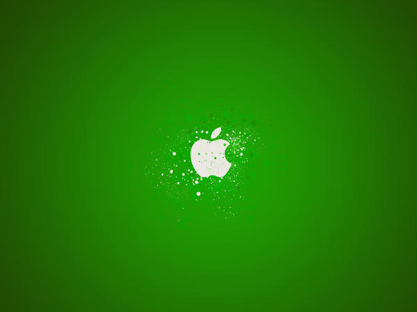 graffitti wallpaper. Apple Graffiti Wallpaper Green