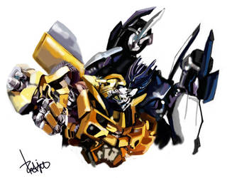 Barricade x Bee by Redjet by TF-connect