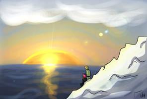 WaM - Sunset on an Iceberg by liliy
