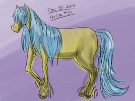 Horse a Day - Dec 31 by liliy