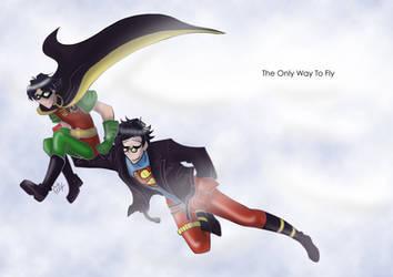 YJ - Robin and Superboy by liliy