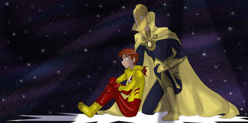 DC - Kid Flash and Dr. Fate by liliy