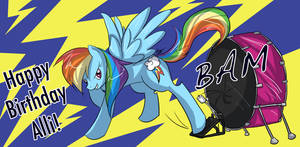 MLP - Rainbow Dash and Drum