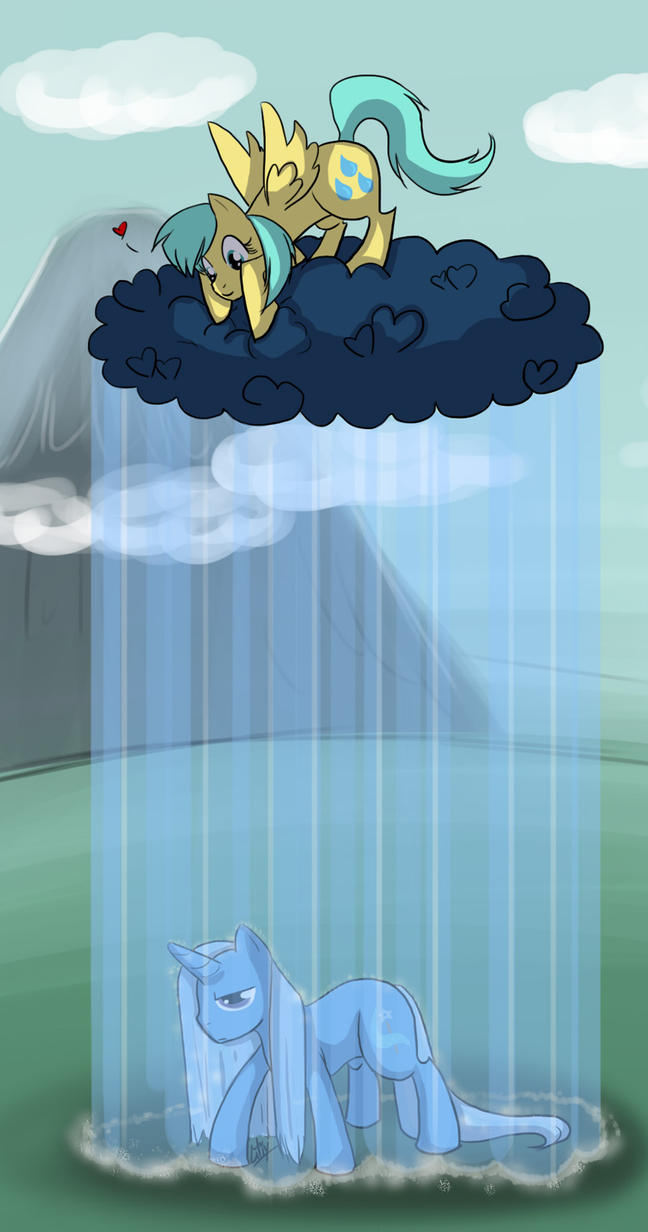 MLP - Raindrops and Trixie by liliy