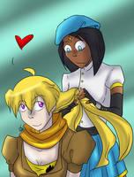 RWBY  -Yang and Ciel by liliy