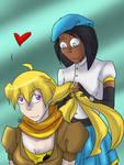 RWBY  -Yang and Ciel