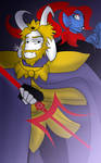 Undertale - Asgore and Undyne