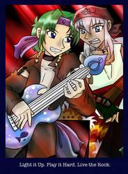 Rock Stars Frey and Akira by liliy