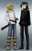Wiglaf and Mordred by liliy