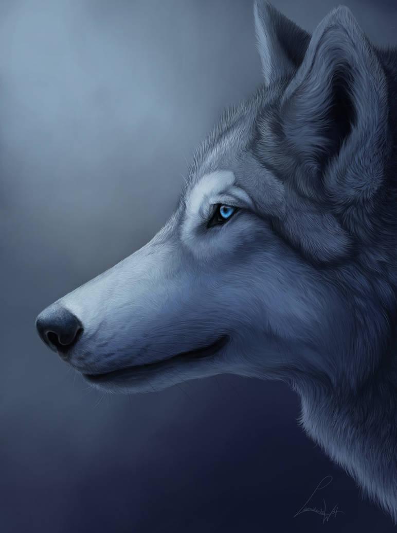 Azure Eyes by LabradoriteWolf