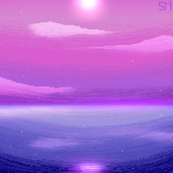 Pixel art - Bi flag by SilverMoonXXIII