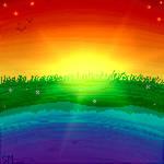 Pixel art - Gay flag