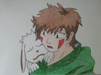 Kiba and Akamaru by mirkz2005