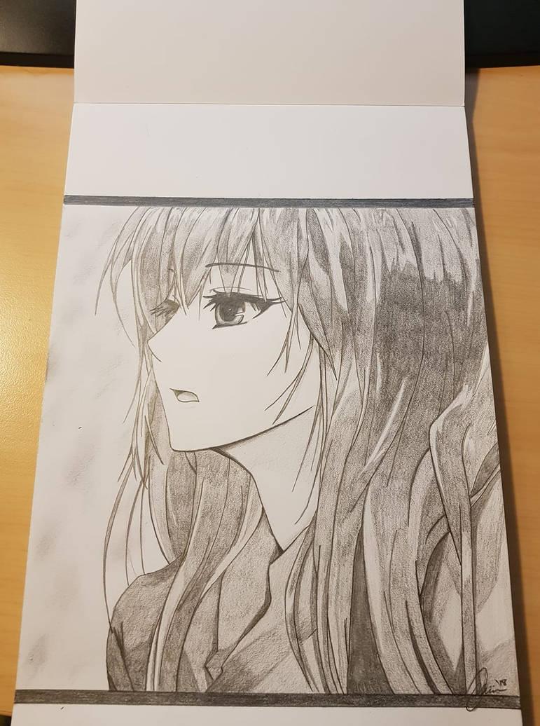 Anime Girl Drawing by mirkz2005