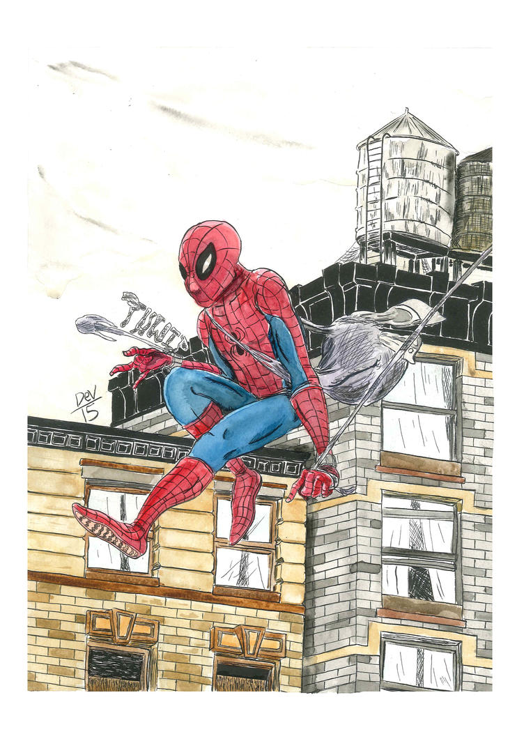 Spider-Man Print by Deverefro