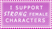 Strong Female Characters Stamp
