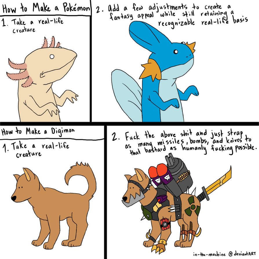 Pokemon vs. Digimon by In-The-Machine