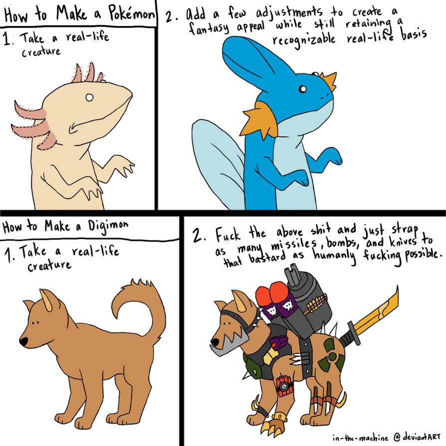 Pokemon vs. Digimon by In-The-Machine