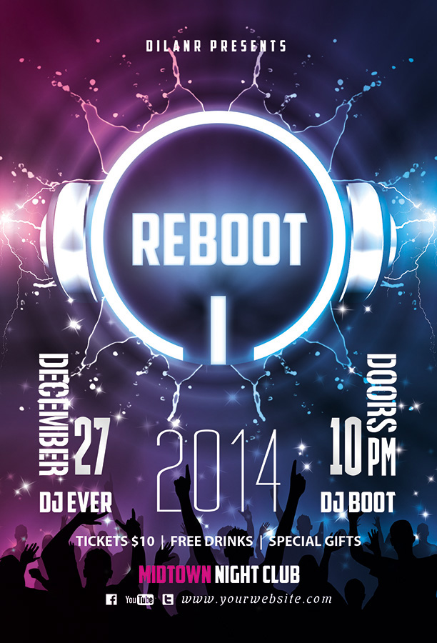 Reboot Party Flyer Template By Dilanr On Deviantart