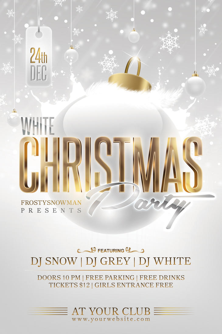 White Christmas Party Flyer by Dilanr