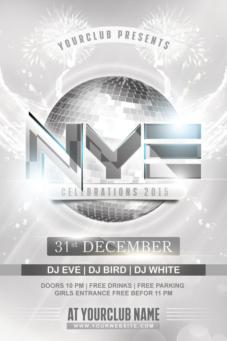 Nye White Party Flyer By Dilanr On Deviantart