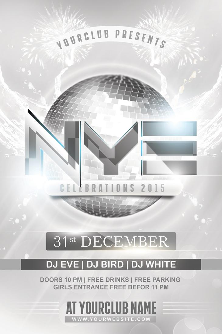NYE White Party Flyer by Dilanr