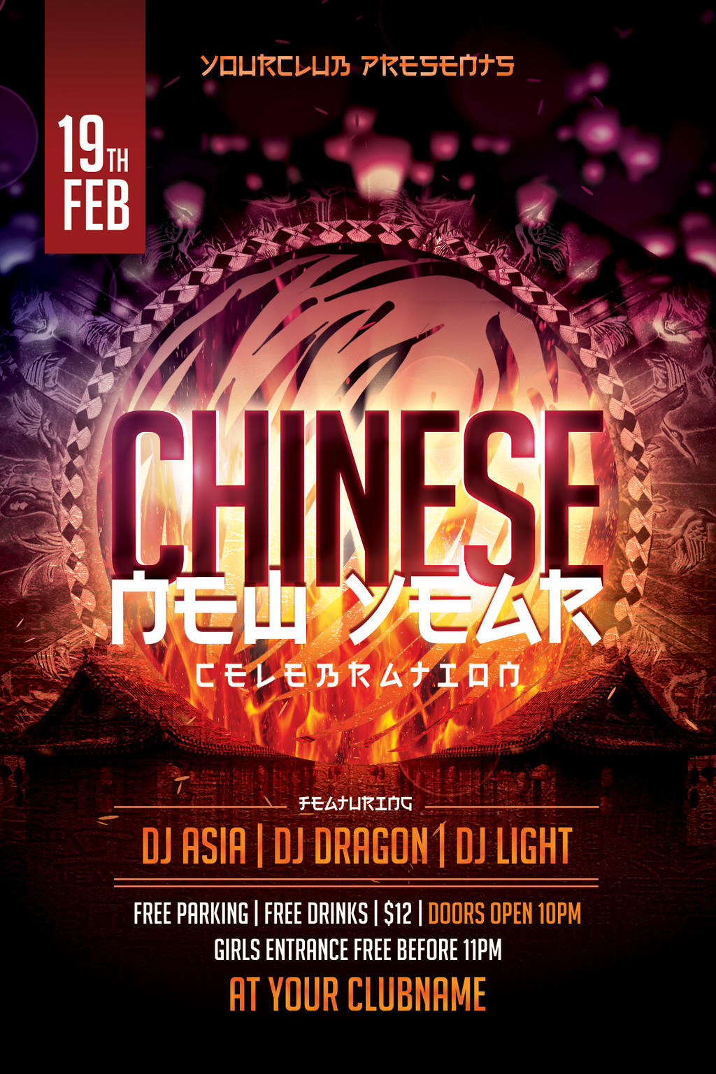 chinese new year flyer by dilanr on deviantart