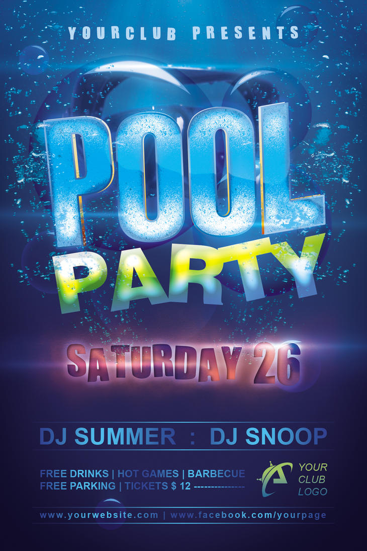 Pool Party Flyer by Dilanr