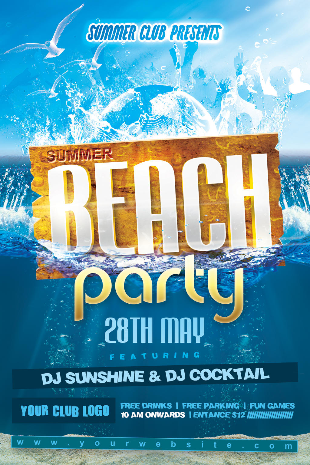 DeviantArt: More Like Summer Beach Party Flyer by Dilanr
