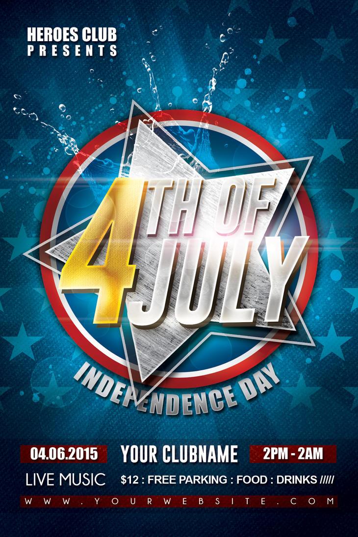 4th of July Celebration Flyer by Dilanr