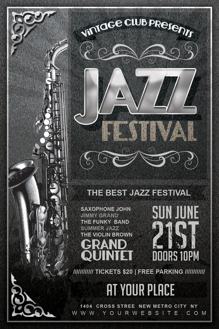 Vintage Jazz Festival Flyer by Dilanr