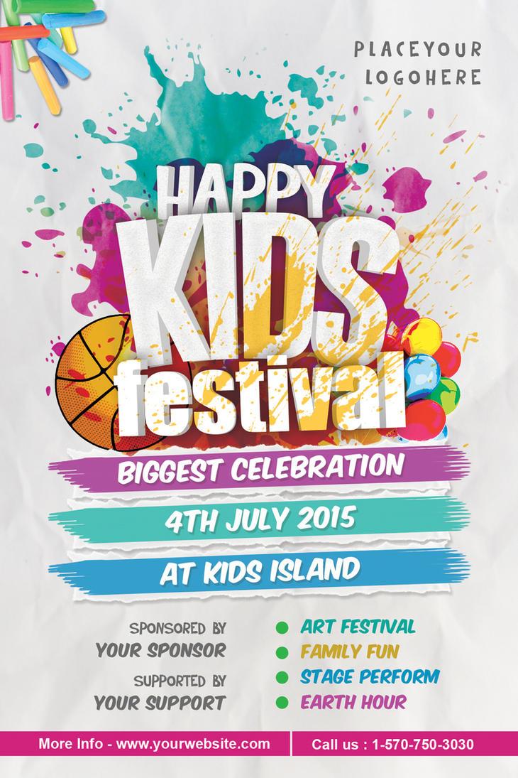 Kids festival flyer by dilanr on deviantart for Craft fair application template