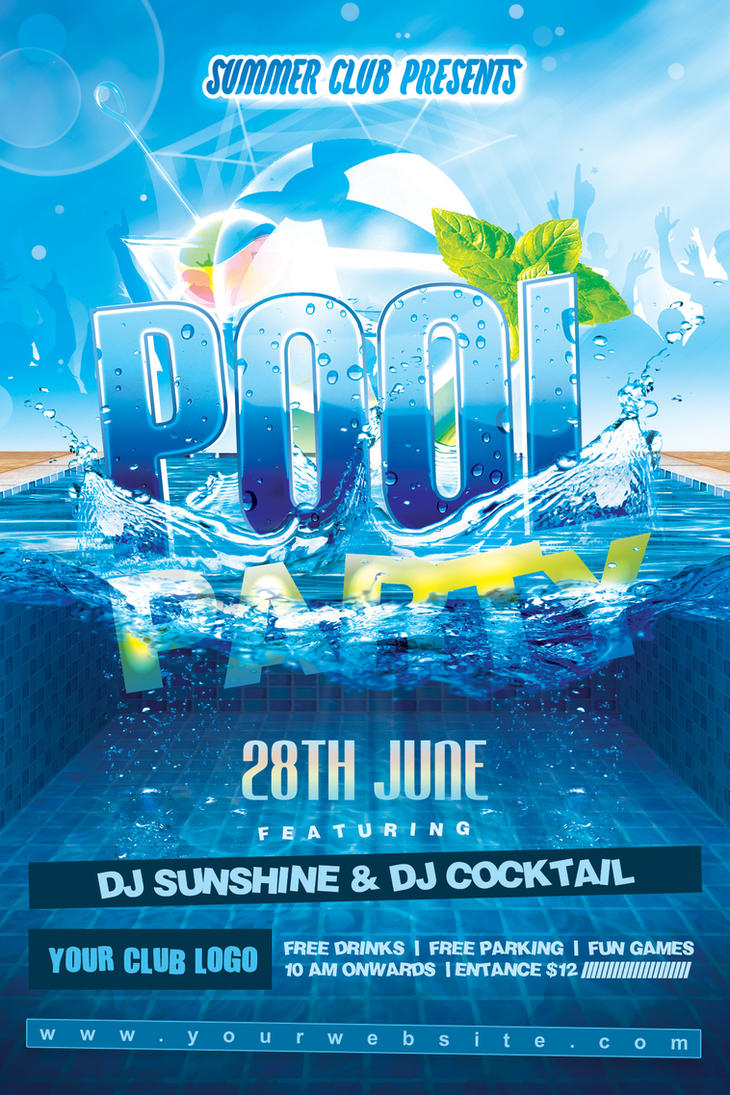 Summer Pool Party Flyer By Dilanr ...