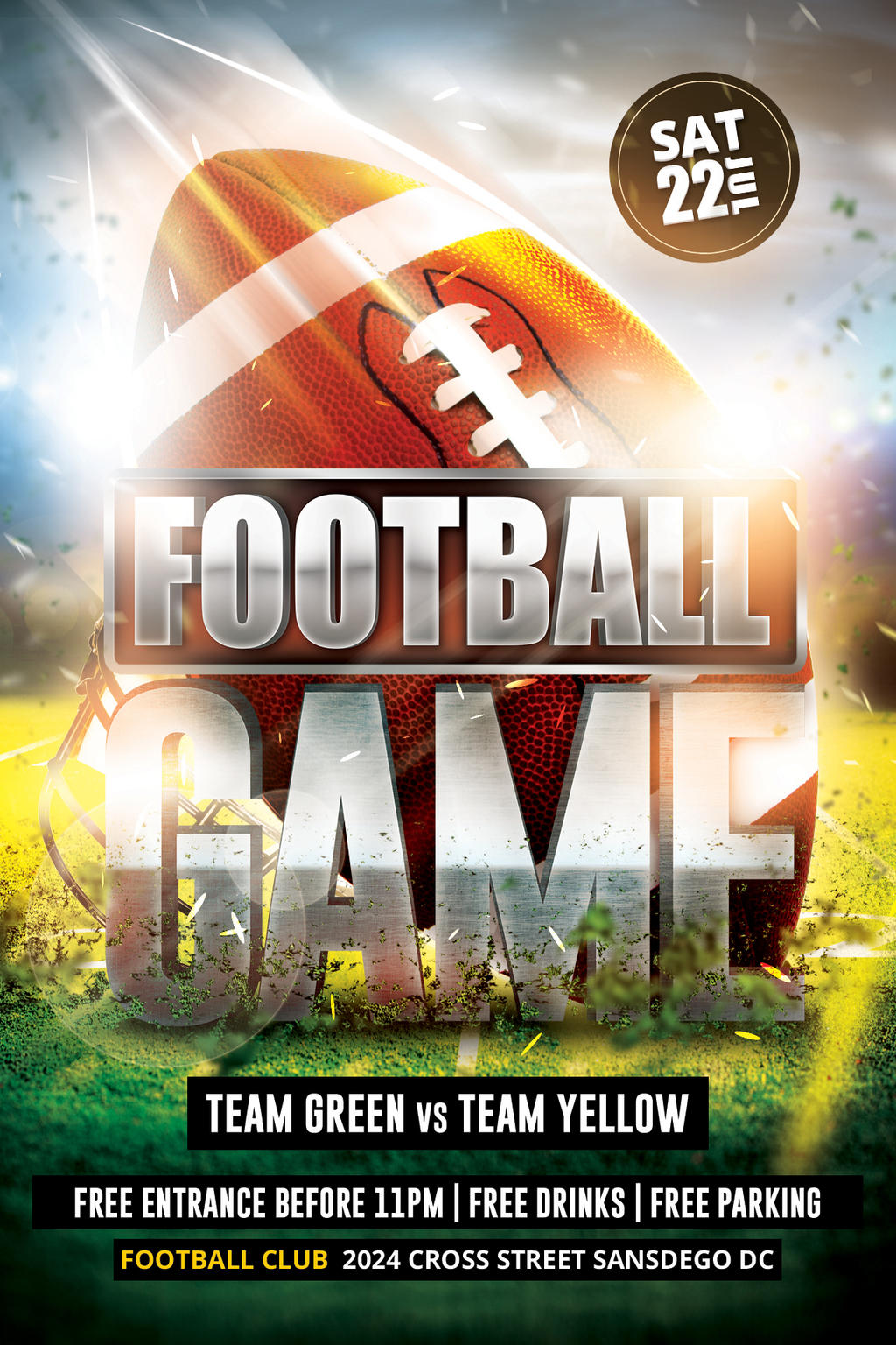 FootBall Game Flyer by Dilanr on DeviantArt