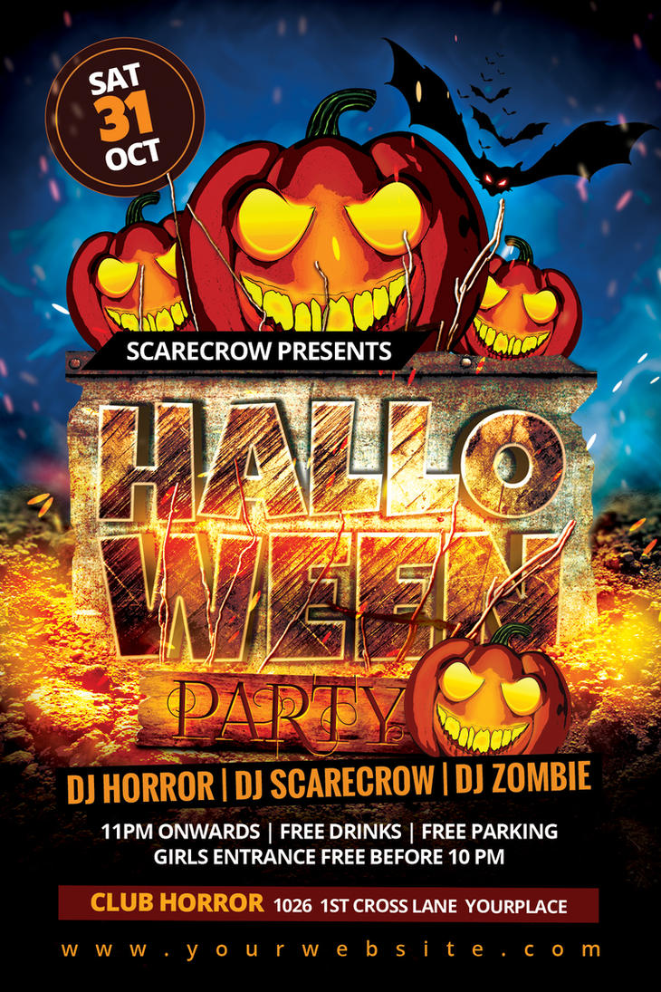 Halloween Party Flyer by Dilanr