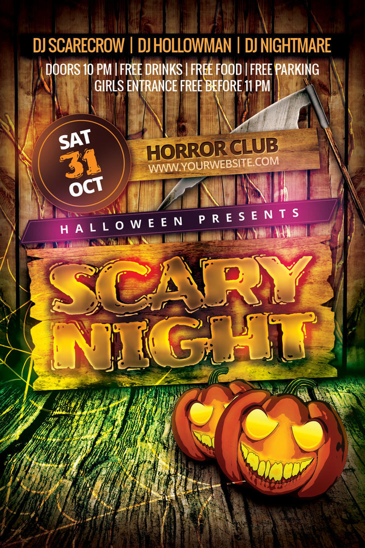 Scary Night Flyer by Dilanr