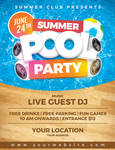 Summer Pool Party Flyer Template by Dilanr